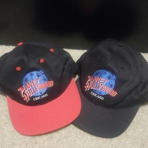 (LOT) Two Planet Hollywood Chicago Hats!
